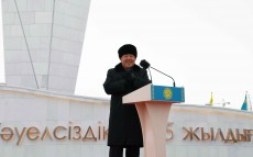 "Participation in the opening ceremony of ""Тәуелсіздіктің 25 жылдығы"" monument"