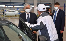 "Kassym-Jomart Tokayev visits ""Hyundai Trans Kazakhstan"", the plant of passenger vehicles production"