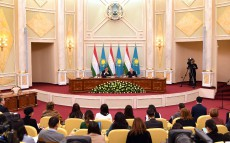 Briefing for the mass media on the results of the President of Tajikistan Emomali Rahmon's official visit