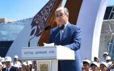 Kassym-Jomart Tokayev attends concert on the National Day of Dombra
