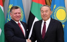 Meeting with King of Jordan Abdullah II who arrived in Kazakhstan on an official visit
