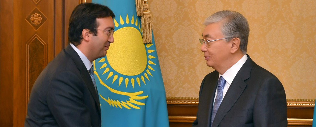 President Kassym-Jomart Tokayev received GRECO's Executive Secretary Gianluca Esposito