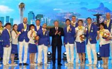 Елбасы XXXI жазғы Олимпия ойындарының чемпиондары мен жүлдегерлерін марапаттауға арналған салтанатты рәсімге қатысты