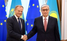 President of Kazakhstan Kassym-Jomart Tokayev held talks with Donald Tusk, President of the European Council