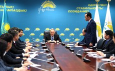 Visit to the head office of Nur Otan Party