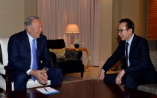 Meeting with the ex-President of the Republic of Korea Lee Myung-bak