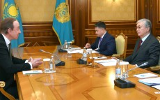The Head of State receives President of Air Astana Peter Foster