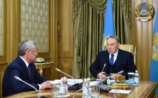 Meeting with Mayor of Aktobe region Berdybek Saparbayev